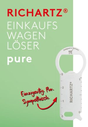 RICHARTZ EINKAUFSWAGENLÖSER pure als Werbeartikel mit Logo im PRESIT Online-Shop bedrucken lassen