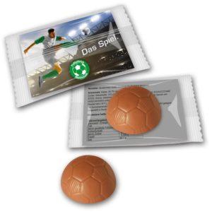 Schokoladenfußball Werbung als Werbeartikel mit Logo im PRESIT Online-Shop bedrucken lassen