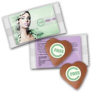 Lebkuchenherz - card mini als Werbeartikel mit Logo im PRESIT Online-Shop bedrucken lassen