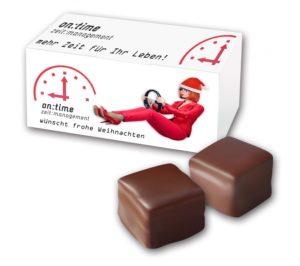 Dominosteinpackung 2er als Werbeartikel mit Logo im PRESIT Online-Shop bedrucken lassen