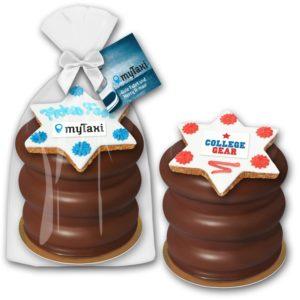 Baumkuchen mit Zimtstern Premium als Werbeartikel mit Logo im PRESIT Online-Shop bedrucken lassen