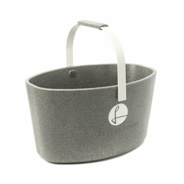 Lieblingskorb Basic silver grey – Werbeartikel im PRESIT Online-Shop bedrucken lassen