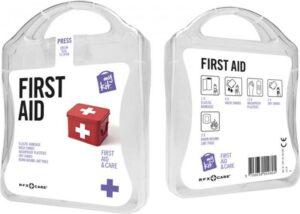MyKit Erste-Hilfe Set Weiß – Werbeartikel im PRESIT Online-Shop bedrucken lassen