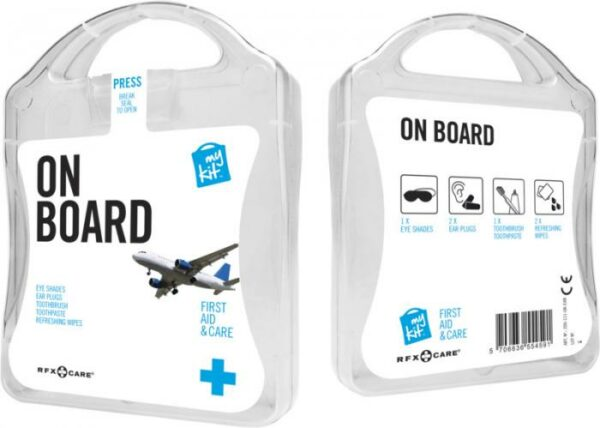 MyKit Flugzeug Reiseset Weiß – Werbeartikel im PRESIT Online-Shop bedrucken lassen