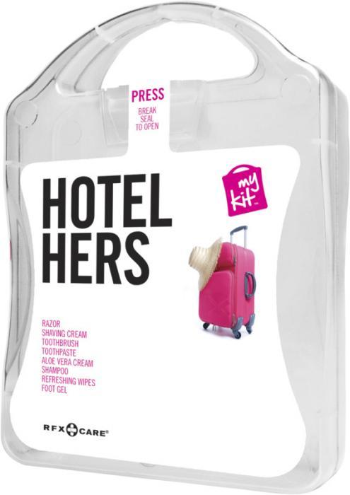 MyKit Hotel Damen Vorderseite – Werbeartikel im PRESIT Online-Shop bedrucken lassen