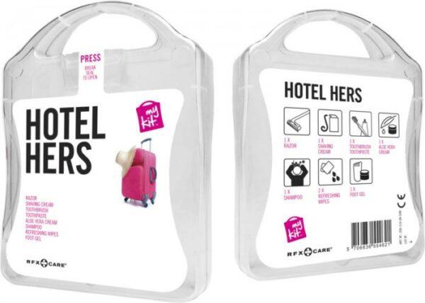 MyKit Hotel Damen Weiß – Werbeartikel im PRESIT Online-Shop bedrucken lassen
