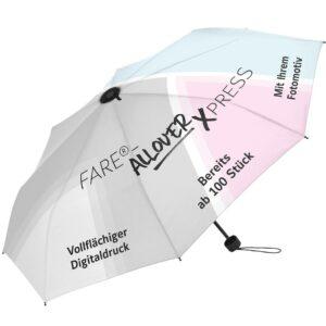 FARE Mini-Topless-Taschenschirm FARE®-Allover Xpress als Werbeartikel mit Logo im PRESIT Online-Shop bedrucken lassen