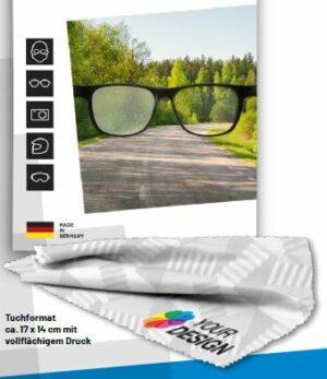 Antibeschlagtuch Brille für klare Sicht Maskenträger Freizeit PFAS-frei mit Logo WER GmbH