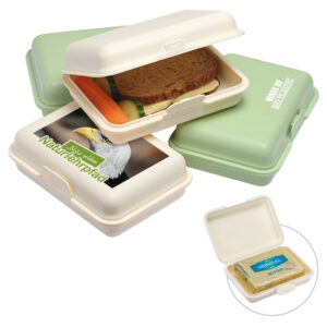 Brotdose Bio nachhaltig für unterwegs mit Logo WER GmbH