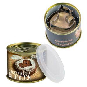 Backförmchen-Konserve als Werbeartikel mit Logo im PRESIT Online-Shop bedrucken lassen
