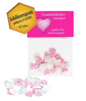 Badekonfetti Lovely Heart als Werbeartikel mit Logo im PRESIT Online-Shop bedrucken lassen