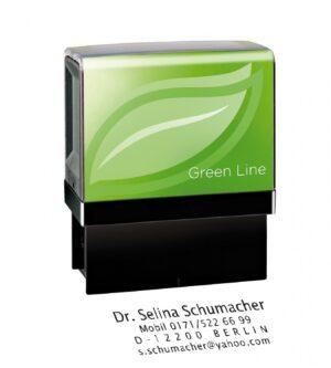 Stempelautomat  Green Line als Werbeartikel mit Logo im PRESIT Online-Shop bedrucken lassen