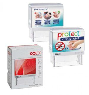 Protect Kids Stamp - Standardmotiv im Einzelkarton als Werbeartikel mit Logo im PRESIT Online-Shop bedrucken lassen