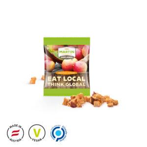 Apfel Cubes Minitüte als Werbeartikel mit Logo im PRESIT Online-Shop bedrucken lassen