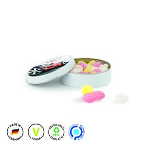 Bonbondose Midi als Werbeartikel mit Logo im PRESIT Online-Shop bedrucken lassen