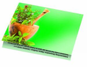 Klappkärtchen Kräuter als Werbeartikel mit Logo im PRESIT Online-Shop bedrucken lassen