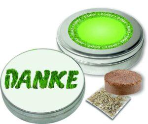 DANKE Dose als Werbeartikel mit Logo im PRESIT Online-Shop bedrucken lassen