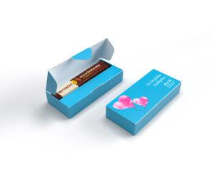 Rettergut mixschokolade Riegel als Werbeartikel mit Logo im PRESIT Online-Shop bedrucken lassen