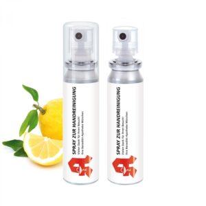 20 ml Pocket Spray  - Handreinigungsspray antibakteriell - Body Label als Werbeartikel mit Logo im PRESIT Online-Shop bedrucken lassen