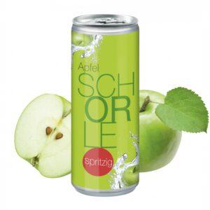 250 ml Apfelschorle Spritzig - Body Label als Werbeartikel mit Logo im PRESIT Online-Shop bedrucken lassen