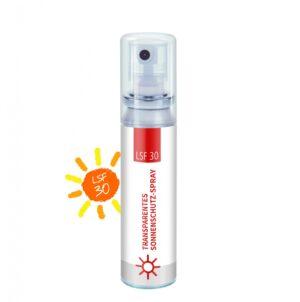 20 ml Pocket Spray  - Sonnenschutzspray LSF 30 - Body Label als Werbeartikel mit Logo im PRESIT Online-Shop bedrucken lassen