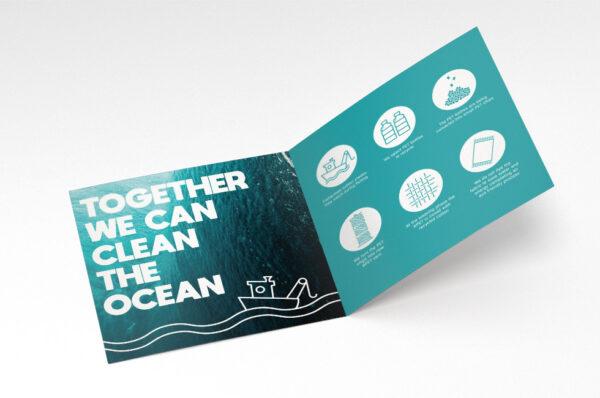 Seatowel kitchen Küchenhandtücher aus recycelter Baumwolle und recyceltes PET aus dem Meer mit Logo WER GmbH