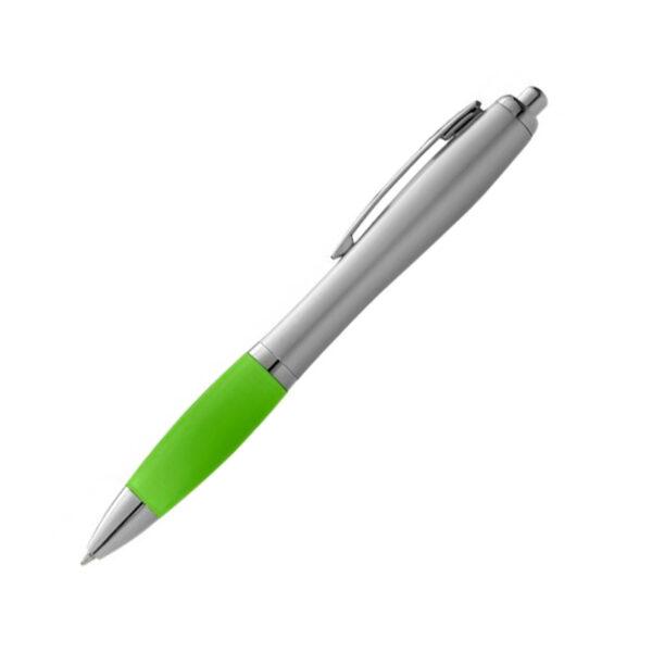 Kugelschreiber mit Griffzonen in unterschiedlichen Farben mit Logo WER GmbH