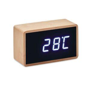 LED Tisch Uhr Bambus MIRI CLOCK - Tischuhren