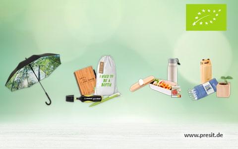 Öko Werbeartikel im PRESIT Werbemittel Online-Shop
