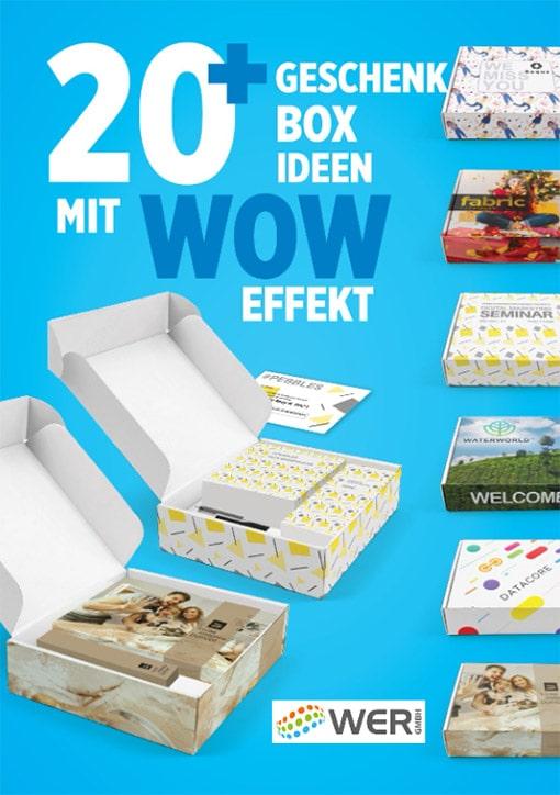 Werbemittel Katalog: 20+ Geschenkbox Ideen mit WOW Effekt