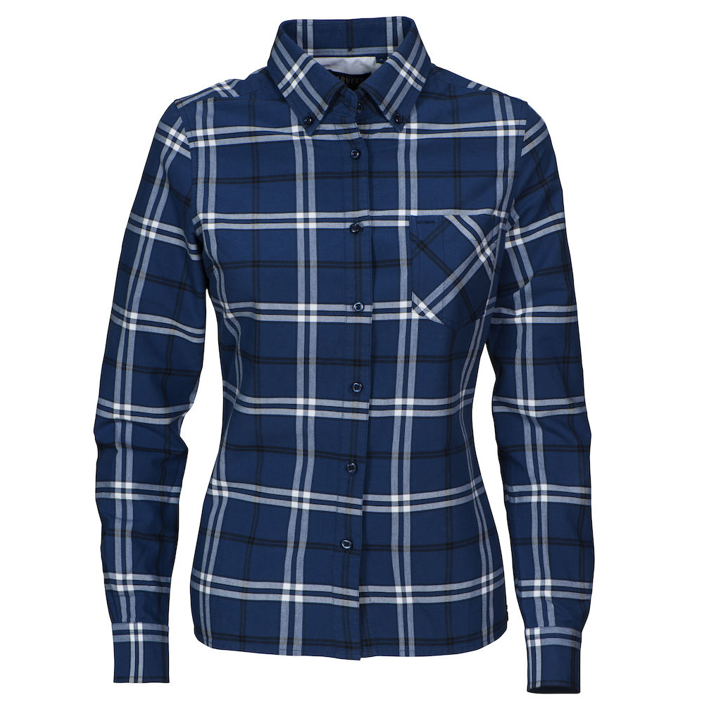 New Wave BRIGHAM LADIES CHECKED SHIRT | Farbe: marine/weiss