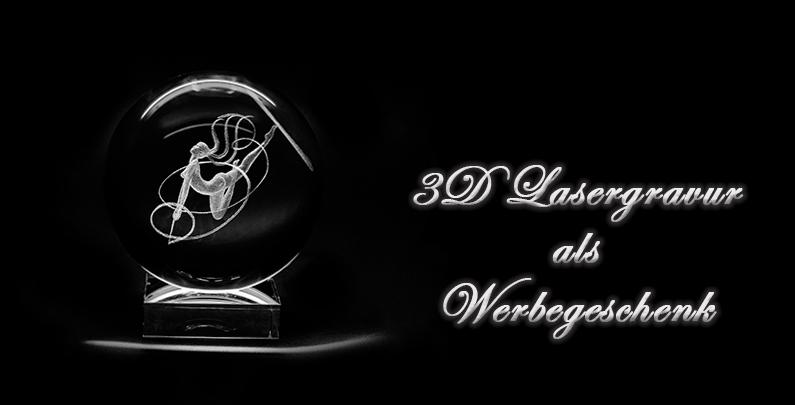 3D Lasergravur bei Werbemitteln