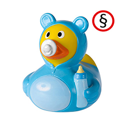Blaue Baby Badeenten kaufen im PRESIT Werbeartikel Shop