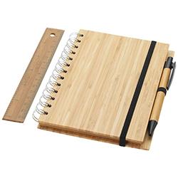 Bambus Notizbücher bedrucken lassen: Das Franklin Notizbuchset