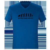 Blaue T-Shirts on Demand bedrucken lassen