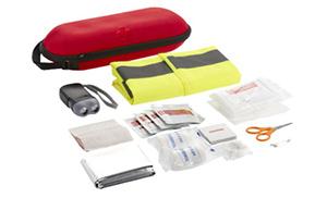 Erste Hilfe-Set als Werbeartikel – 47 Teile mit Warnweste