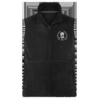 Schwarze Fleece-Weste individuell bedrucken lassen - Logo vorne auf der Brust