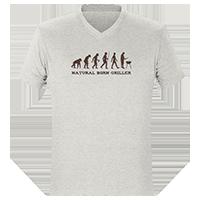 Graue T-Shirts on Demand bedrucken lassen
