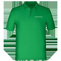 Grüne Poloshirts für Herren bedrucken lassen