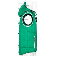 Grüne Stepp-Weste individuell bedrucken lassen - Seitenansicht