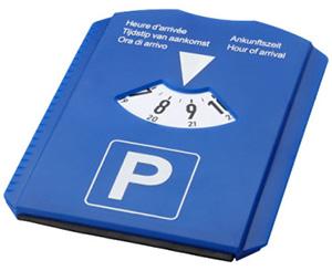 Parkscheibe als KFZ-Zubehör mit Logo bedrucken lassen