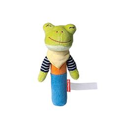 Kuscheltiere bedrucken lassen: Frosch-Greifling.