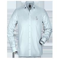 Hellblaue OLYMP Hemden für Herren individuell besticken lassen