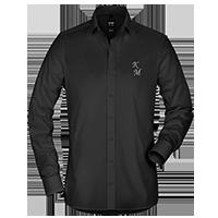 Schwarze OLYMP Hemden für Herren individuell besticken lassen