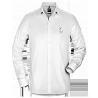 Weiße OLYMP Hemden für Herren individuell besticken lassen