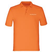 Orangene Poloshirts für Herren bedrucken lassen