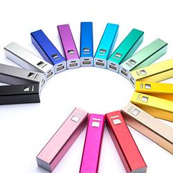 Powerbank-Werbeartikel in vielen verschiedenen Farben erhältlich