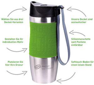 PRESIT Coffee 2 Go Becher individualisieren - Möglichkeiten