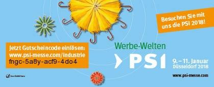 Gutschein-Code für die PSI-Messe 2018 in Düsseldorf