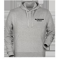 Graue Kapuzen-Pullover individuell besticken lassen